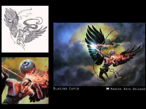 Ilustración: Cupido en llamas