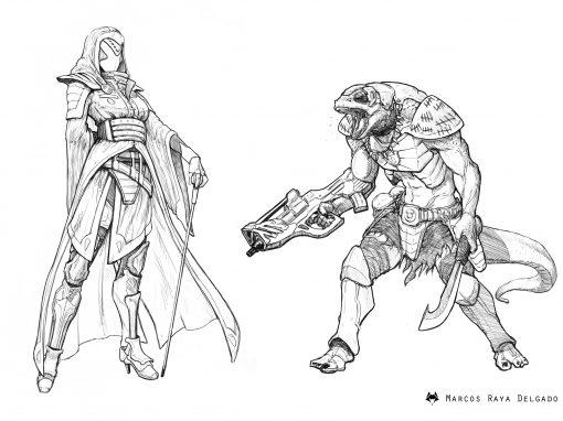 Diseños de personajes Last Saga