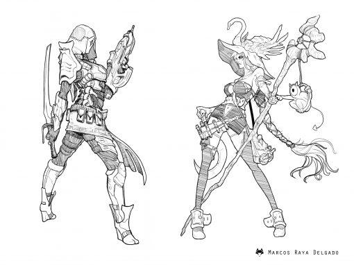 Diseños de personajes femeninos