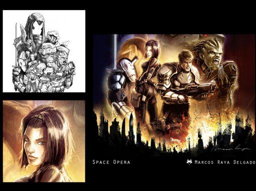 Diseño de una portada: Last Saga carátula