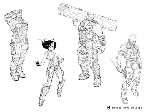 Diseño de personajes: Scourge Project